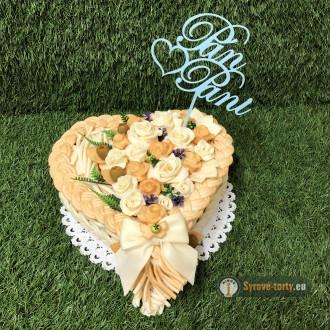 Svatební sýrový dort malé srdce