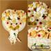 Svatební sýrový dort malé srdce s prstínky