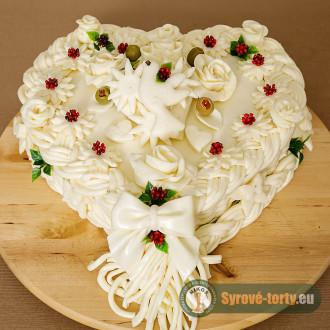 Sýrový dort velké srdce (neuzený)