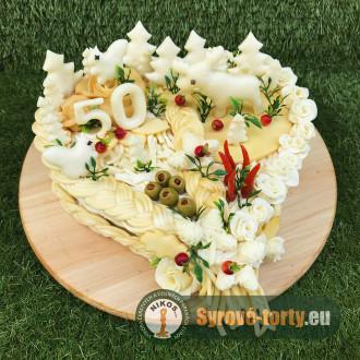 Sýrový dort velké srdce MYSLIVEC