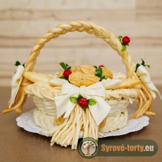 Sýrový košík s růžemi