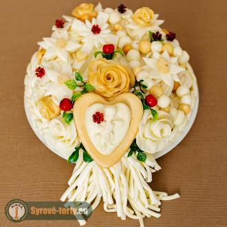 Sýrový dort s andílkem (malý)