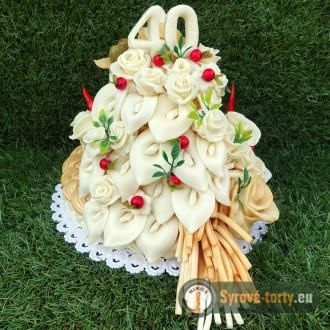 Sýrový dort dvoupatrový s kalami