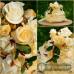 Sýrový dort dvoupatrový s růžemi