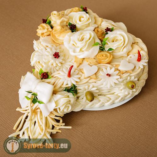 Sýrový dort srdce 2 kg