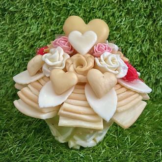 Valentýnská sýrová kytka