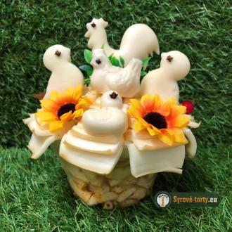 Velikonoční sýrová kytička